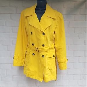 Fionucci Bold Yellow Trench Coat